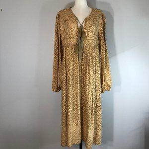 R. Vivimos Tiger and Leopard Print Maxi Dress NWT